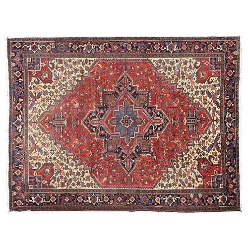 "Fine Persian Heriz Carpet, 12'4"" x 9'4"""