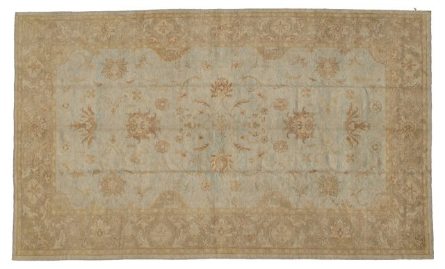 "Large Oushak Carpet, 10'2"" x 16'9"""