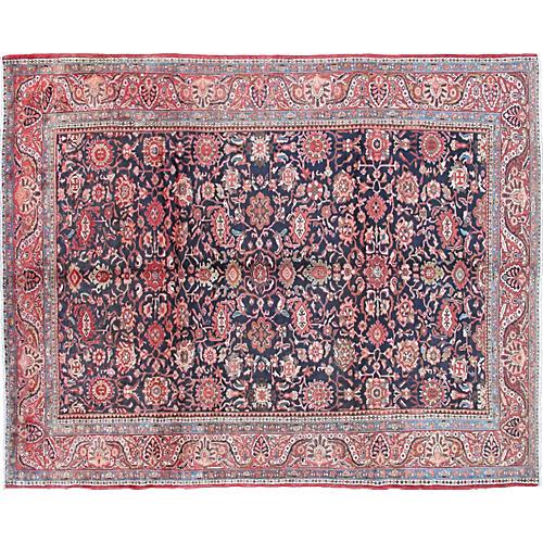 Antique Persian Malayer Carpet, 9' x 12'