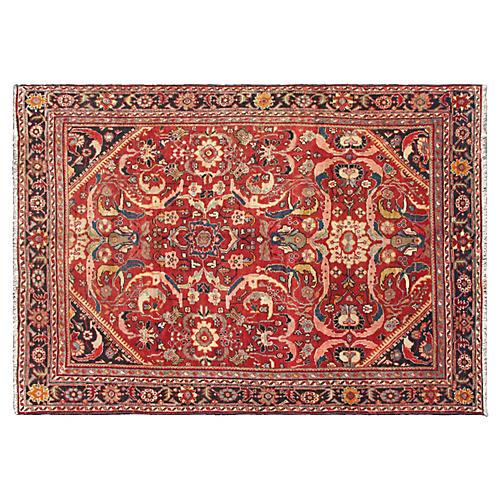 """Antique Persian Mahal, 8'1"""" x 11'7"""""""