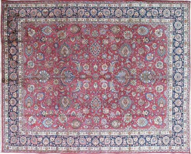"""Antique Mashhad Carpet, 9'10"""" x 12'10"""""""