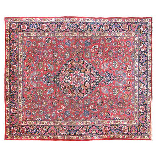 "Persian Mashhad Carpet, 9'10"" x 12'10"""