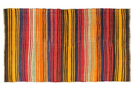 Midcentury Colorful Kilim, 5' x 8'8