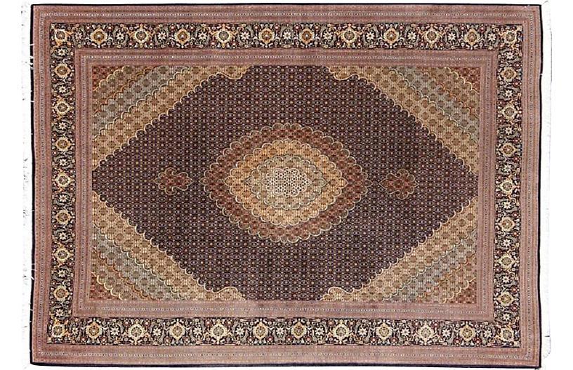 Persian Tabriz Rug, 8'1