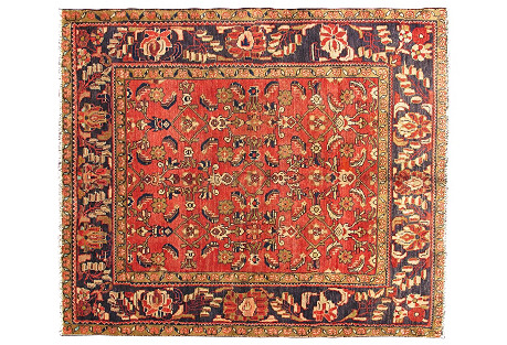 Persian Lilihan Rug, 5' x 5'11