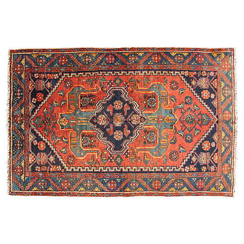 "Antique Persian Malayer Rug, 3'10"" x 6'"