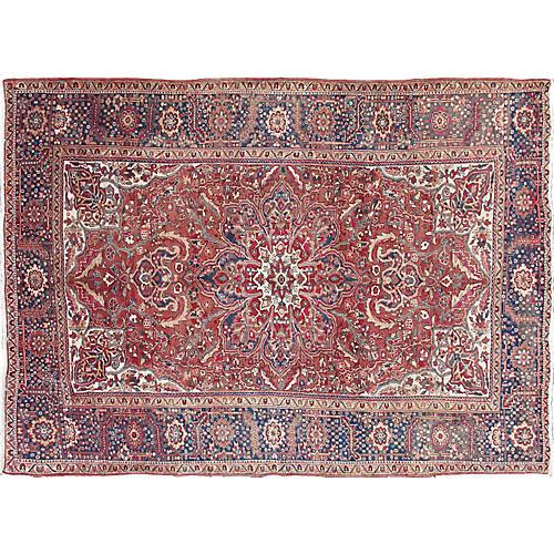 "Vintage Persian Heriz Rug, 7'10"" x 11'"