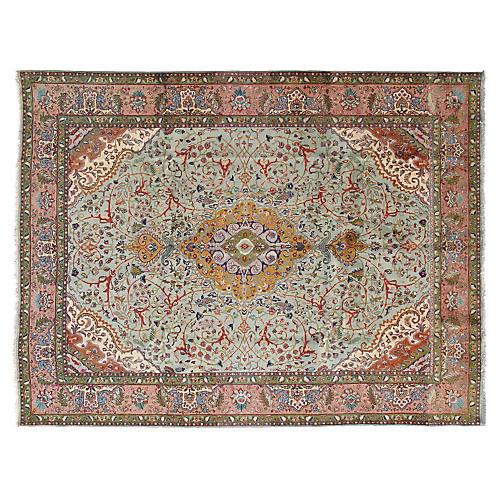 "Persian Tabriz Carpet, 9'4"" x 12'7"""