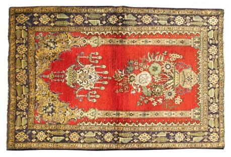 Persian Qum Rug, 3'6