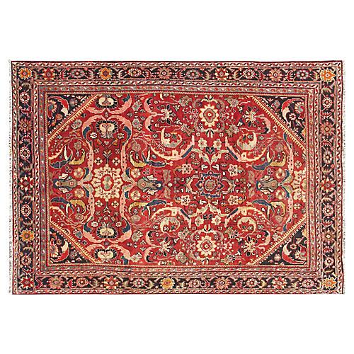 Red Persian Mahal Rug, 8'1 x 11'7