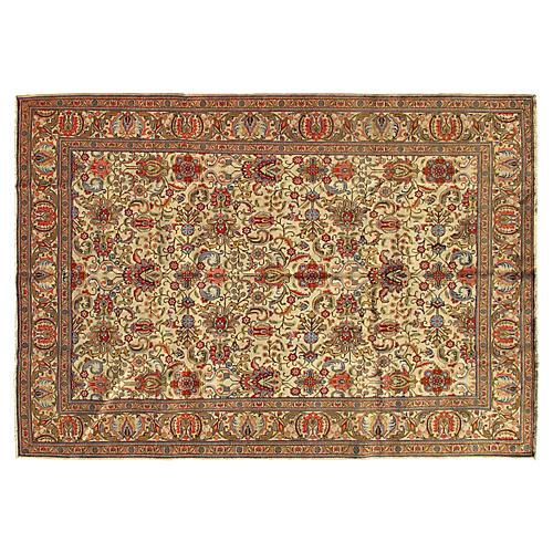 "Semi-Antique Tabriz Rug, 8'3"" x 11'7"""