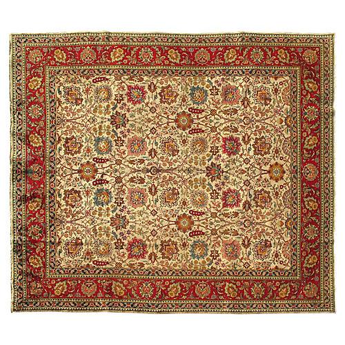 """Persian Tabriz Rug, 9'6"""" x 11'"""
