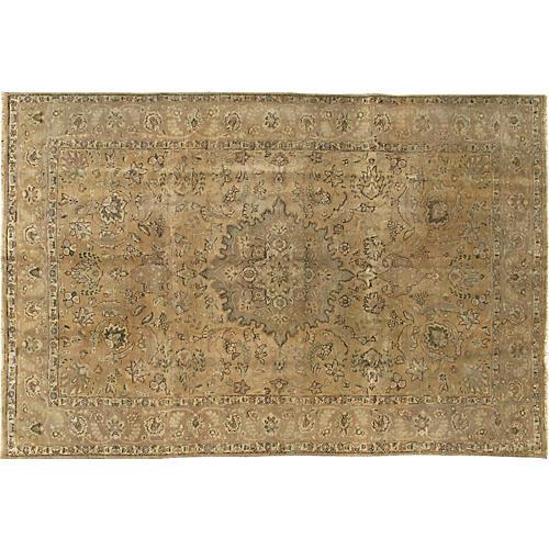 "Vintage Persian Tabriz Rug, 6'6"" x 9'8"""