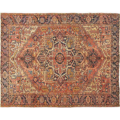 """Antique Persian Heriz Rug, 8'2"""" x 11'"""