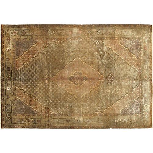 Vintage Persian Bijar Rug, 6'8 x 9'5