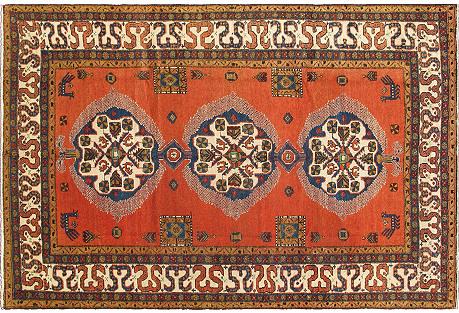 Antique Serab Persian Rug   7'3 x 10'8