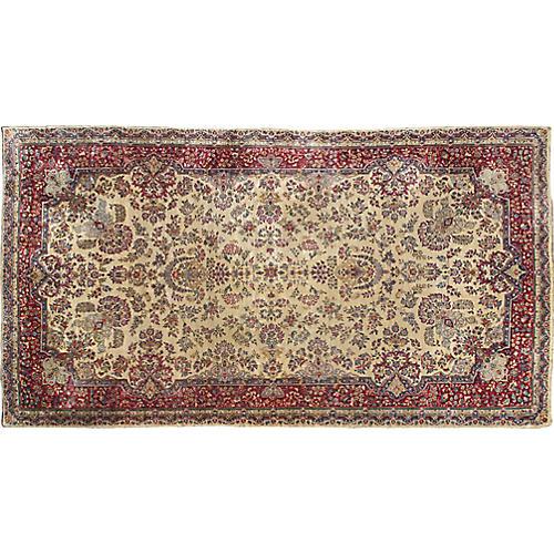 """Antique Persian Rug, 8'10""""x 16'1"""""""
