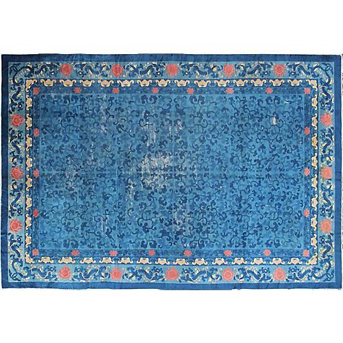 "Antique Chinese Carpet, 9'10"" x 14'4"""