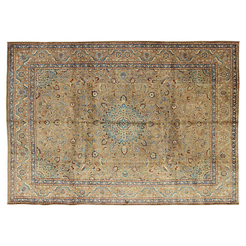 "Persian Tabriz Carpet, 9'7"" x 13'3"""