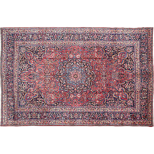 "Antique Persian Mashad Rug, 11'6"" x 17'"