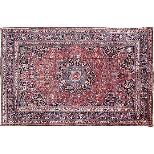 """Large Antique Persian Mashad 11'6"""" x 17'"""