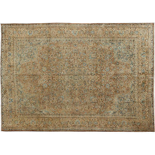 "Persian Tabriz Carpet, 9'1"" x 12'4"""