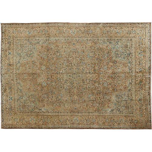 "Persian Tabriz Carpet, 9'1"" x 12'4"""