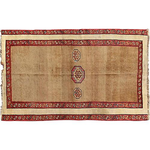 """Antique Persian Sarab Rug, 3'11"""" x 6'11"""""""