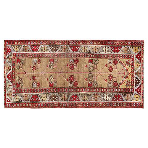 Antique Unique Oushak Rug, 3'10 x 8'6