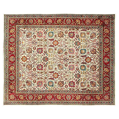 "Persian Tabriz Carpet, 9'6"" x 11'"