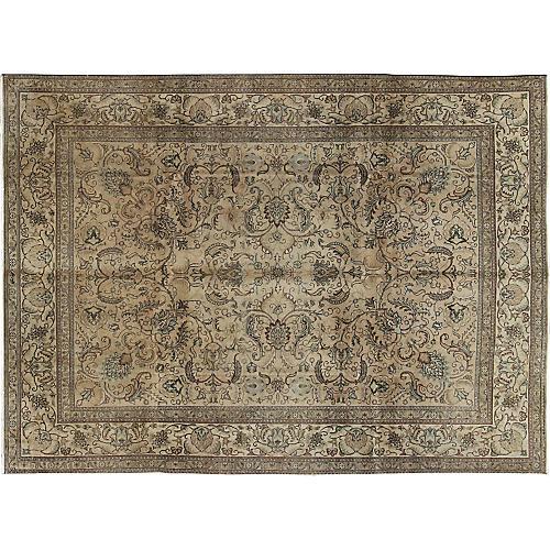 "Persian Tabriz Carpet, 9'9"" x 13'1"""