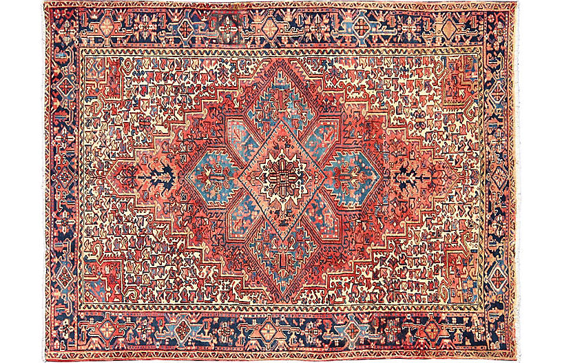 Persian Heriz Rug, 7'5
