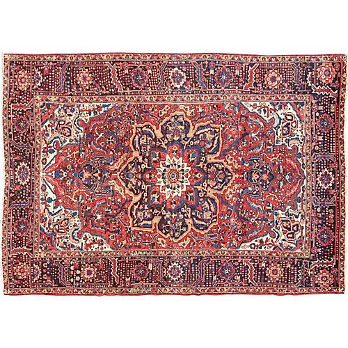 Persian Heriz Rug, 9'6 x 13'3