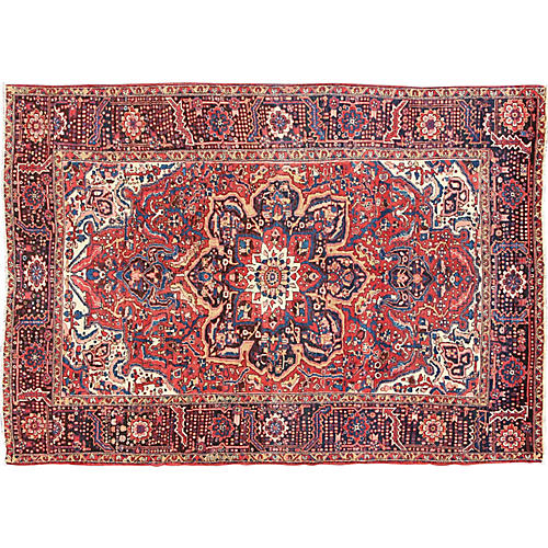 "Persian Heriz Carpet, 9'6"" x 13'3"""