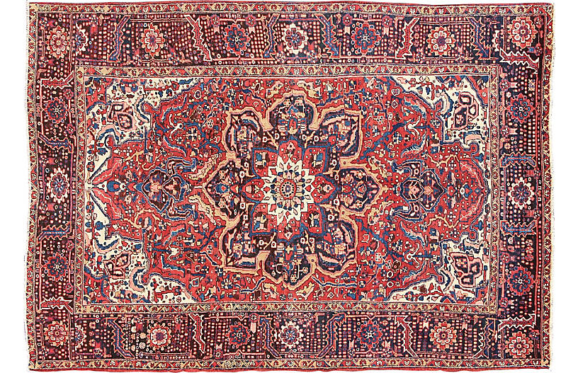 Persian Heriz Carpet, 9'6