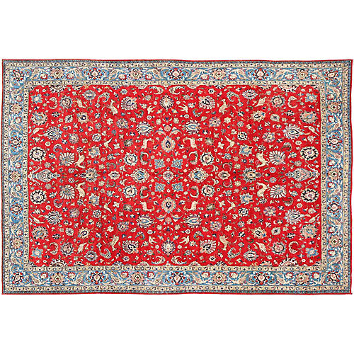 Fine Persian Isfahan Carpet, 10' x 14'9