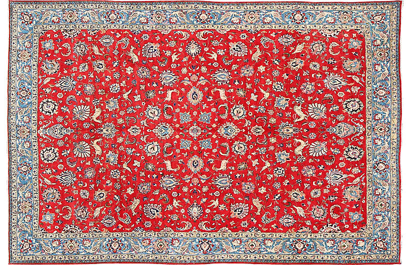 Persian Isfahan Carpet, 10' x 14'9