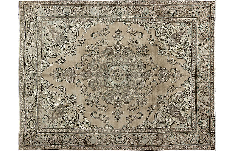 Persian Tabriz Carpet, 10' x 12'6