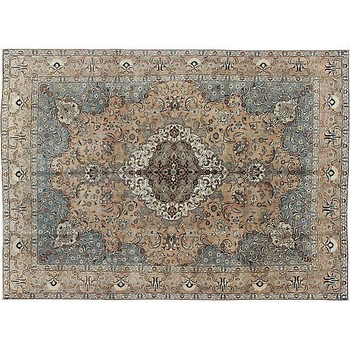 "Persian Tabriz Carpet, 9'3"" x 12'7"""
