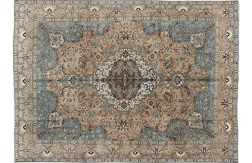 Persian Tabriz Carpet, 9'3
