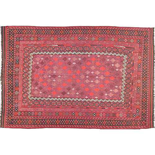 Turkish Kilim Rug, 9'10 x 13'10