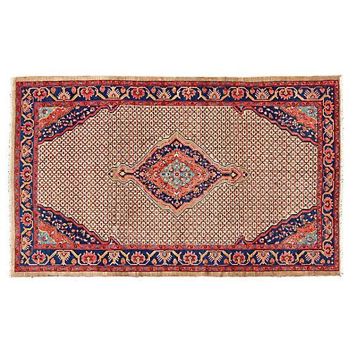 """Persian Hamedan Rug, 6'9"""" x 10'9"""""""