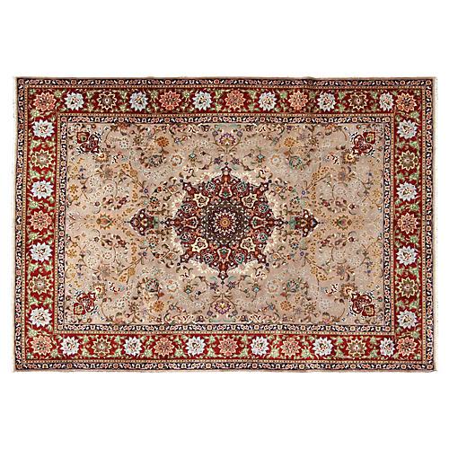 """Fine Persian Tabriz Rug, 8'2"""" x 11'5"""""""
