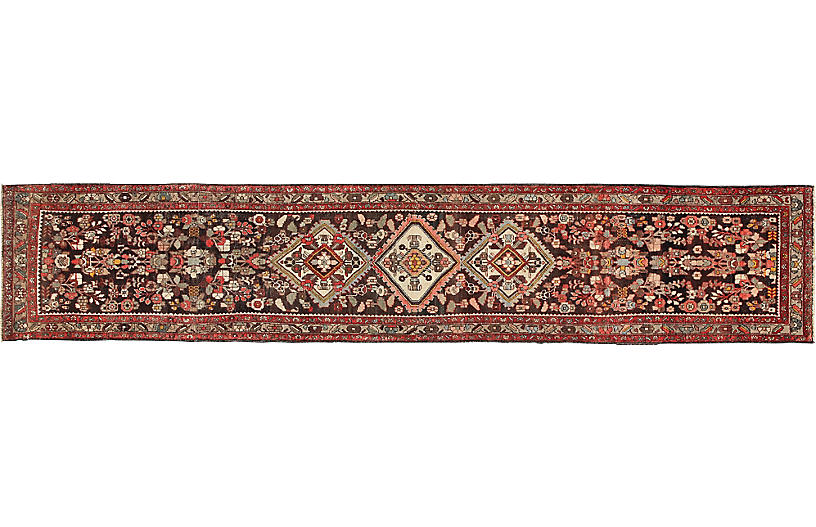 Antique Persian Runner, 3'2