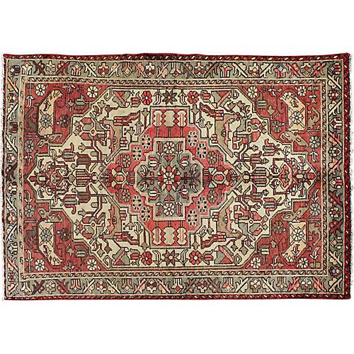 "Antique Persian Hamadan Rug, 4'4"" x 6'6"""
