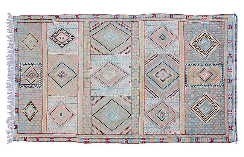 Uzbek Silk Kilim, 5' x 9'