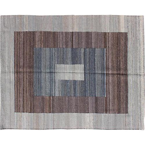 """Modern Flat-Weave Rug, 4'1"""" x 5'7"""""""