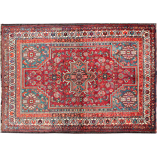 """Persian Qashqai Rug, 5'8"""" x 8'4"""""""