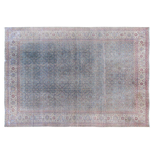 "Antique Persian Tabriz Rug, 9'9"" x 13'5"""