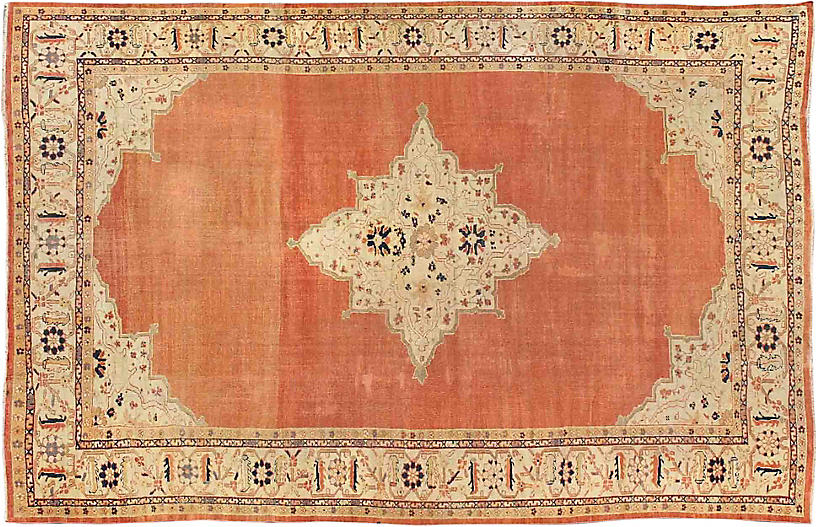 19th-C. Sultanabad Carpet, 10'2